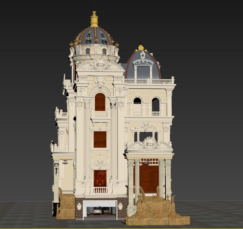 thiết kế biệt thự cổ điển 16