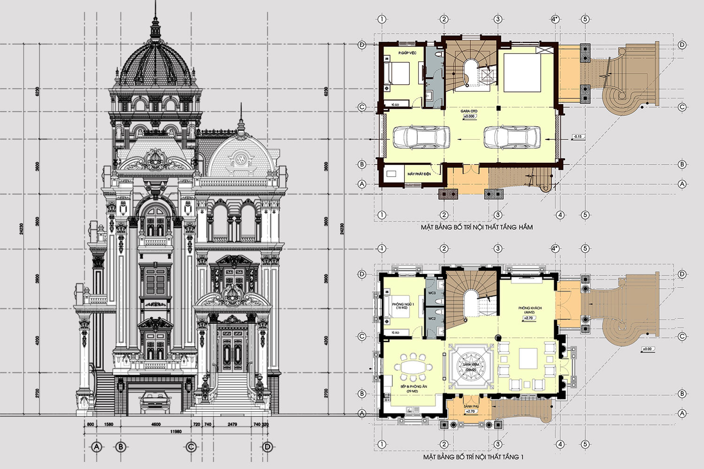 thiết kế biệt thự cổ điển 17 - Thiết kế biệt thự cổ điển đẹp
