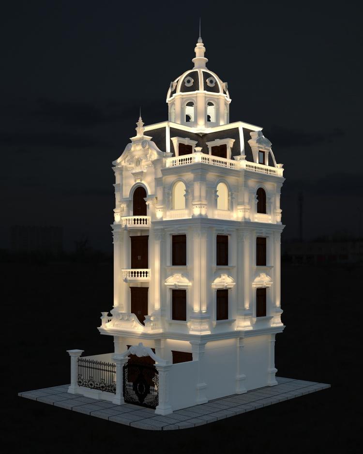 thiết kế biệt thự cổ điển 2 1 - Thiết kế biệt thự cổ điển đẹp