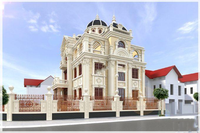 thiết kế biệt thự cổ điển 3 1 - Thiết kế biệt thự cổ điển đẹp