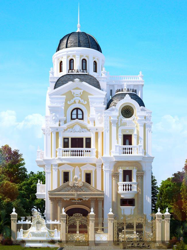 thiết kế biệt thự cổ điển 4 - Bộ sưu tập mẫu thiết kế biệt thự phố đẹp và sang trọng
