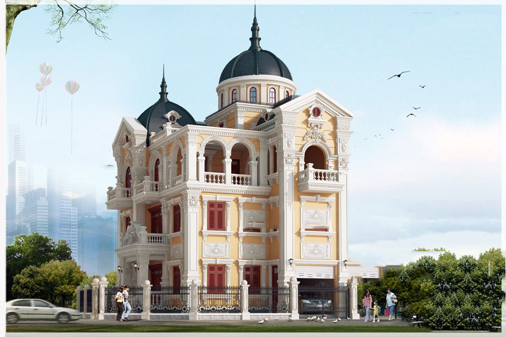 thiết kế biệt thự cổ điển 5 - Thiết kế biệt thự cổ điển đẹp