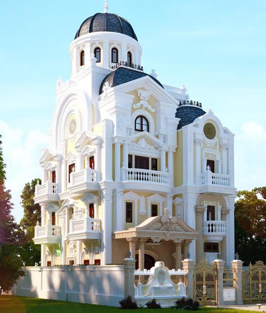thiết kế biệt thự cổ điển 7 - Thiết kế biệt thự cổ điển đẹp