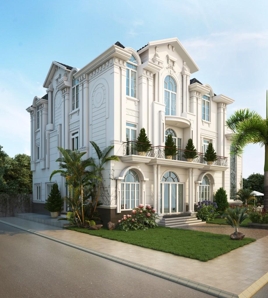thiết kế biệt thự cổ điển 9 - Thiết kế biệt thự cổ điển đẹp