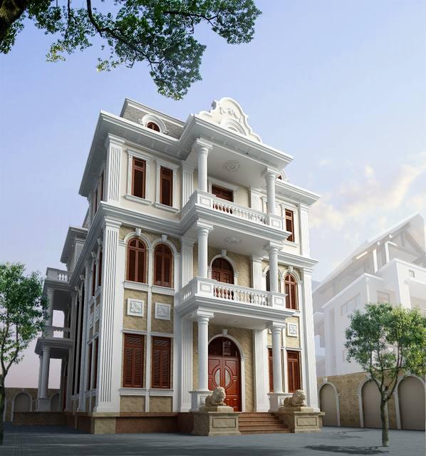 thiết kế biệt thự tân cổ điển 1 1 - Thiết kế biệt thự tân cổ điển đẹp