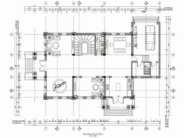 thiết kế biệt thự tân cổ điển 2 1 - Thiết kế biệt thự tân cổ điển đẹp