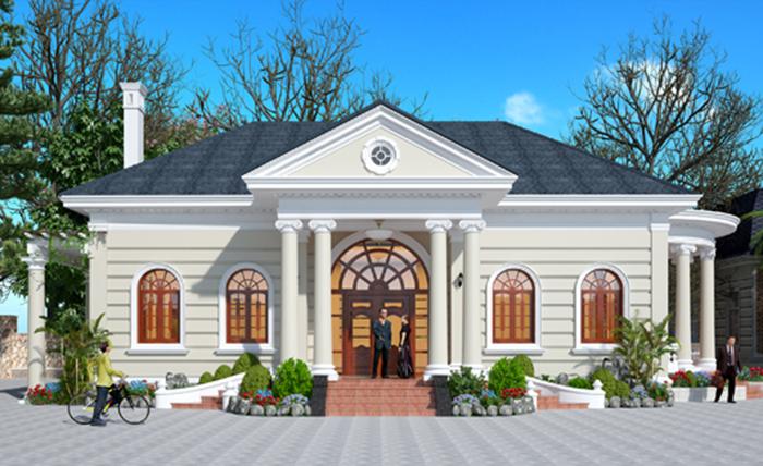 thiết kế biệt thự tân cổ điển 3 2 - Thiết kế biệt thự Pháp