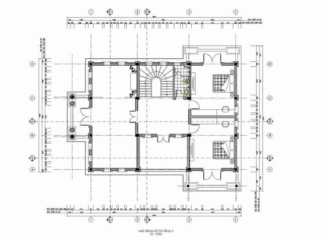 thiết kế biệt thự tân cổ điển 4 1 - Thiết kế biệt thự tân cổ điển đẹp