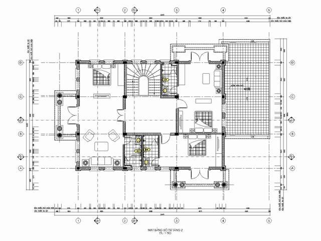 thiết kế biệt thự tân cổ điển 4 2 - Thiết kế biệt thự tân cổ điển đẹp
