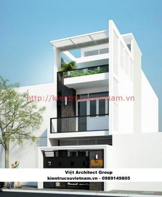 thiết kết nhà 3 tầng 900 triệu 329x400 - Công trình biệt thự phố 3 tầng kiến trúc hiện đại 600m2