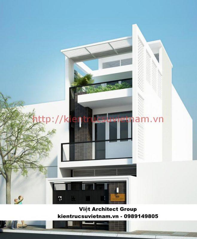 thiết kết nhà 3 tầng 900 triệu 659x800 - Công trình biệt thự phố 3 tầng kiến trúc hiện đại 600m2