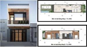 thiet ke nha 2 tang 2 300x163 - Thiết kế nhà 2 tầng đẹp