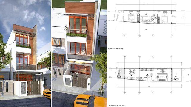 thiet ke nha 30 m2 - Thiết kế nhà 30m2