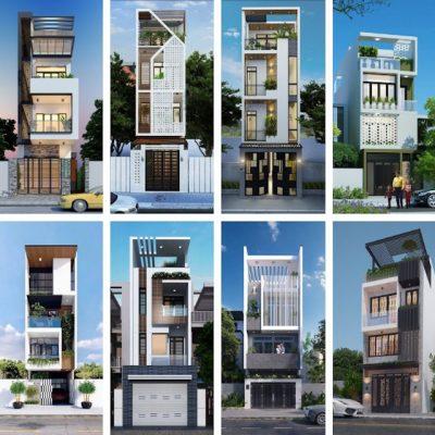 thiet ke nha 4 tang dep 2 400x400 - Thiết kế nhà 4 tầng đẹp