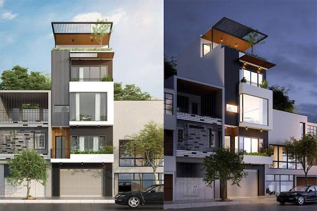 thiet ke nha 4 tang dep - Thiết kế nhà 4 tầng đẹp