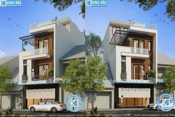 thiet ke nha ong dep 3 tang 1 597x400 - Thiết kế nhà 3 tầng đẹp
