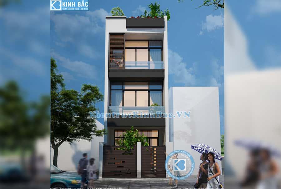 thiet ke nha ong dep 3.5 tang - Thiết kế nhà 3 tầng đẹp