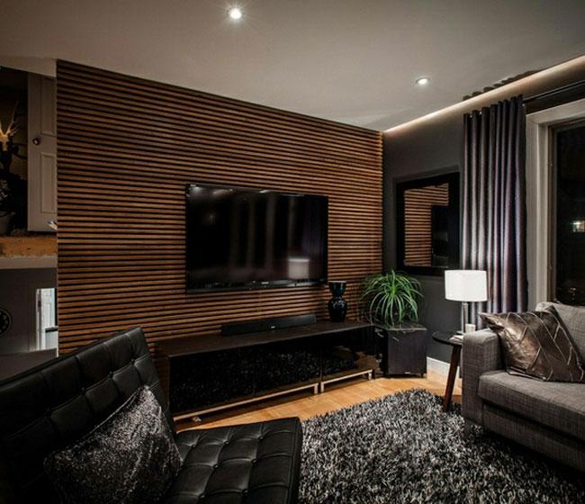 trang trí tường phòng khách - 10 Cách trangtrí tường phòng khách bằng gỗ không thể bỏ qua