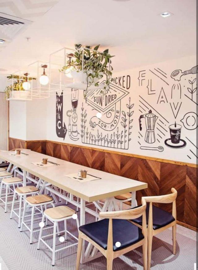 tranh tuong cafe e1619109943872 - Vẽ tranh tường quán Cafe 2d, 3d cực đẹp theo yêu cầu đảm bảo tiến độ