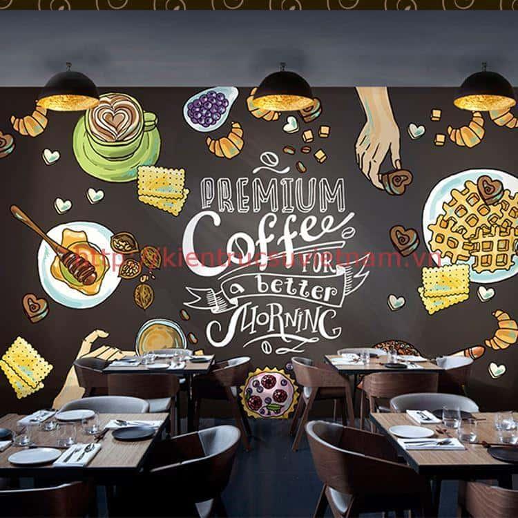 tranh tuong cafe vag 0 - Vẽ tranh tường cho nhà hàng, khách sạn