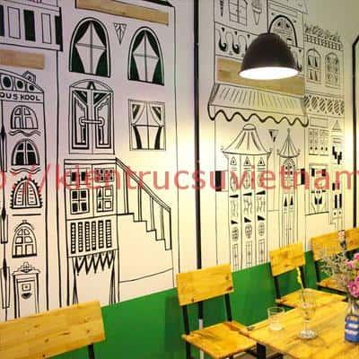 tranh tuong cafe vag 02 - Vẽ tranh tường quán Cafe