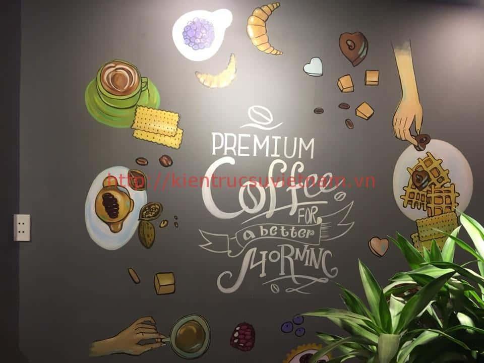 tranh tuong cafe vag 04 - Vẽ tranh tường quán Cafe