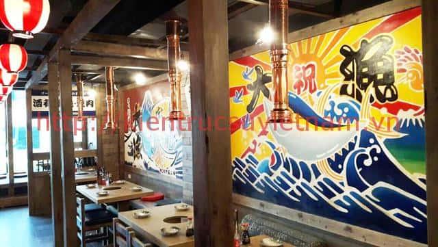 tranh tuong cafe vag 06 - Vẽ tranh tường cho nhà hàng, khách sạn