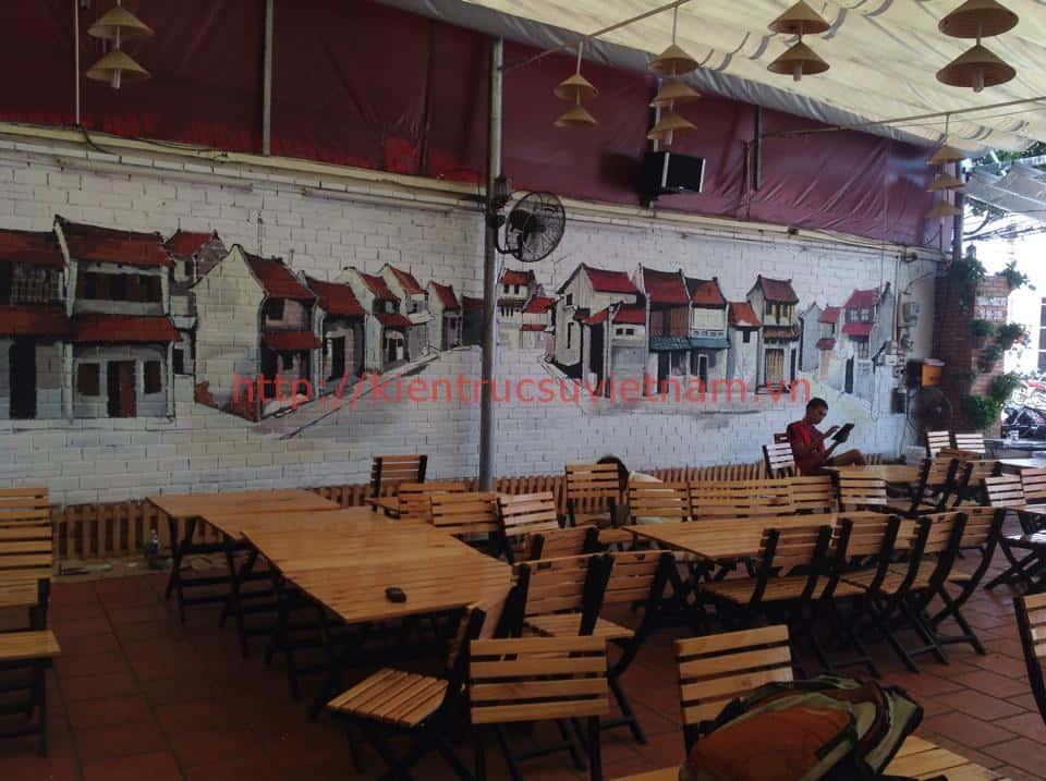 tranh tuong cafe vag 07 - Vẽ tranh tường quán Cafe