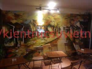 tranh tuong cafe vag 09 300x225 - Vẽ tranh tường quán Cafe