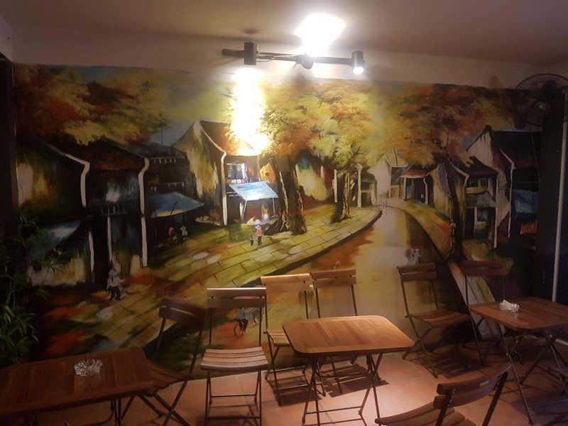 tranh tuong cafe vag 09 - Vẽ tranh tường quán Cafe 2d, 3d cực đẹp theo yêu cầu đảm bảo tiến độ