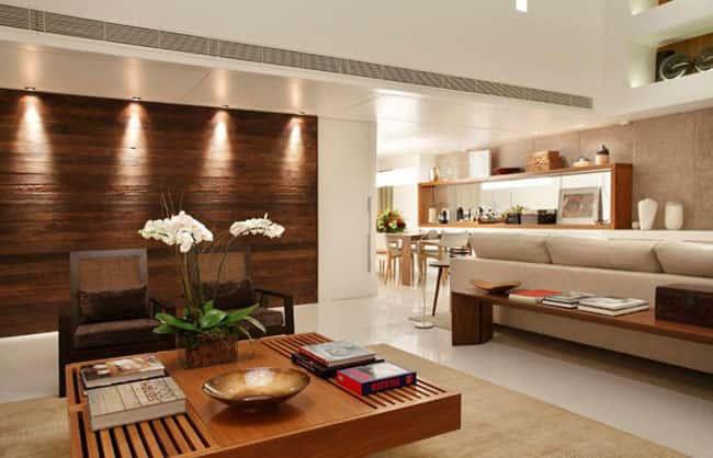 tuong go cho phong khach 1 - 10 Cách trangtrí tường phòng khách bằng gỗ không thể bỏ qua