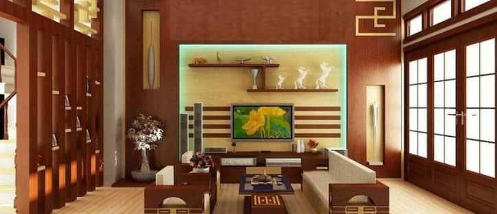 10 Cách trangtrí tường phòng khách bằng gỗ không thể bỏ qua