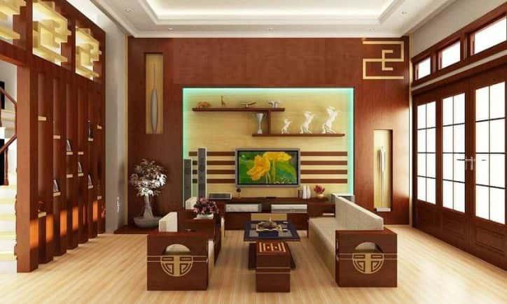 tuong go cho phong khach 4 - 10 Cách trangtrí tường phòng khách bằng gỗ không thể bỏ qua