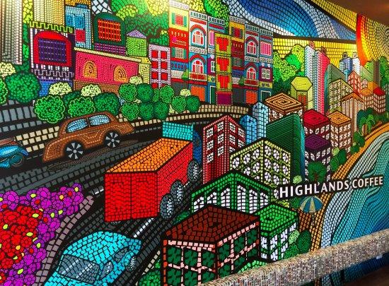 ve tranh tuong Highlands Coffee  - Vẽ tranh tường quán Cafe 2d, 3d cực đẹp theo yêu cầu đảm bảo tiến độ