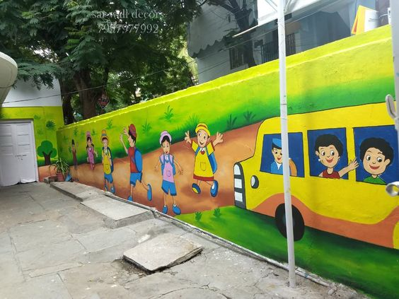 ve tranh tuong mam non 14 - Vẽ tranh tường trường mầm Non