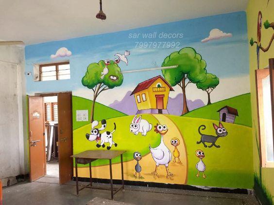 ve tranh tuong mam non 18 - Vẽ tranh tường trường mầm Non