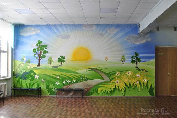 ve tranh tuong mam non dep 4 - Vẽ tranh tường trường mầm Non