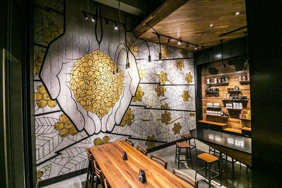 ve tranh tuong quan cafe dep 1a - Vẽ tranh tường quán Cafe 2d, 3d cực đẹp theo yêu cầu đảm bảo tiến độ