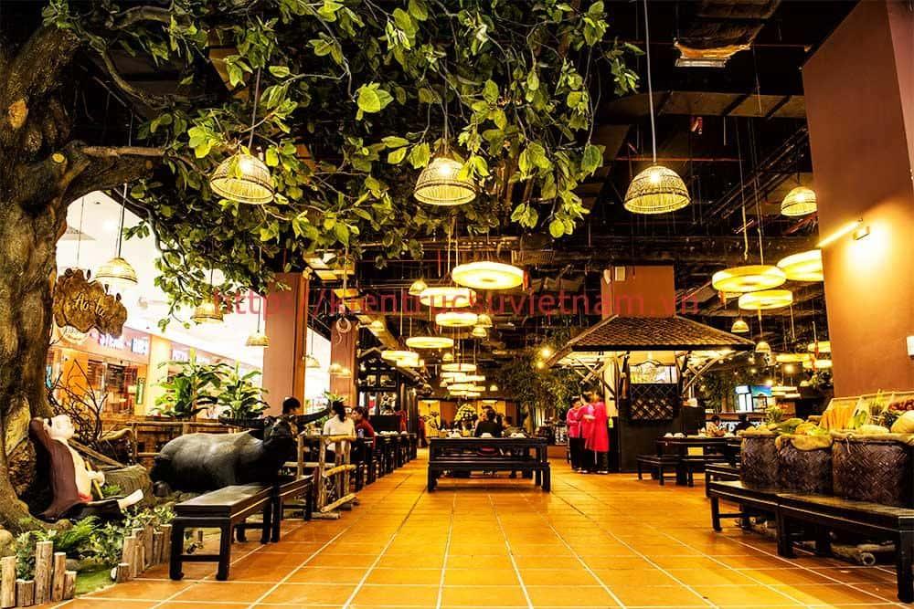 thiet ke nha hang phong cach dong que bac bo 5 - Top 6 phong cách trang trí nội thất nhà hàng đẹp nhất 2018