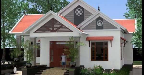 Nhà cấp 4 mái thái đẹp với kinh phí hoàn thiện khoảng 600 triệu
