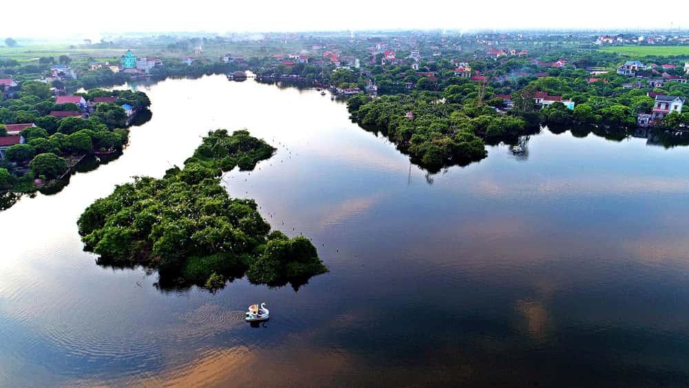 1 - Khu du lịch sinh thái đảo cò Chi Lăng Nam, Thanh Miện, Hải Dương