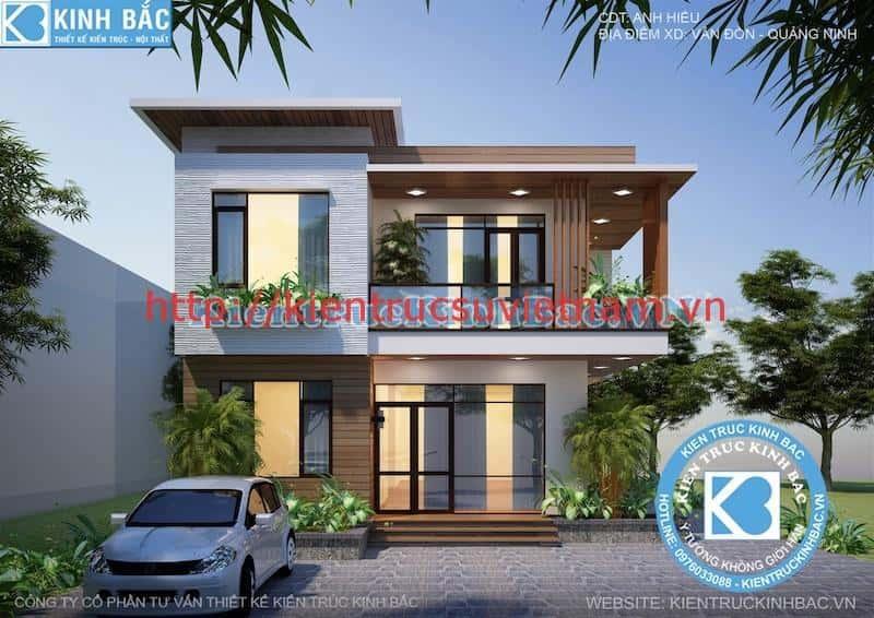 biet thu 2 tang hien dai 1 - Dự án biệt thự 2 tầng phong cách hiện đại Vân Đồn, Quảng Ninh