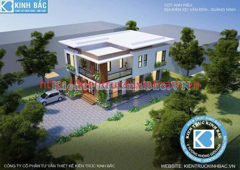 biet thu 2 tang hien dai 2 - Dự án biệt thự 2 tầng phong cách hiện đại Vân Đồn, Quảng Ninh