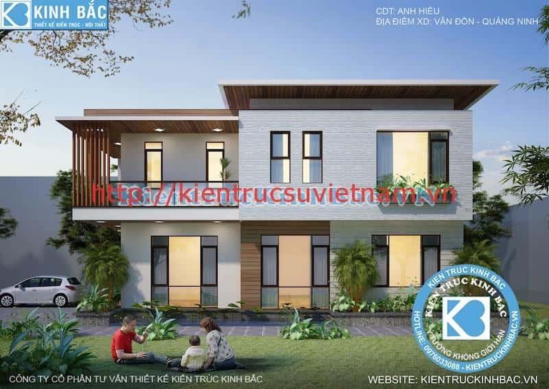 biet thu 2 tang hien dai 3 - Dự án biệt thự 2 tầng phong cách hiện đại Vân Đồn, Quảng Ninh