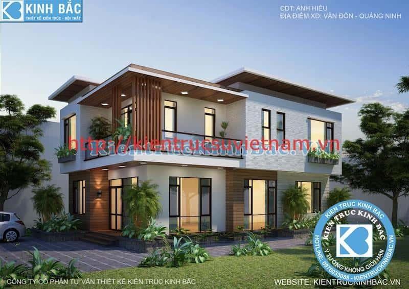 biet thu 2 tang hien dai 4 - Dự án biệt thự 2 tầng phong cách hiện đại Vân Đồn, Quảng Ninh