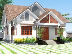 nhà cấp 4 mái thái 300x225 - Mẫu nhà cấp 4 mặt tiền 5m