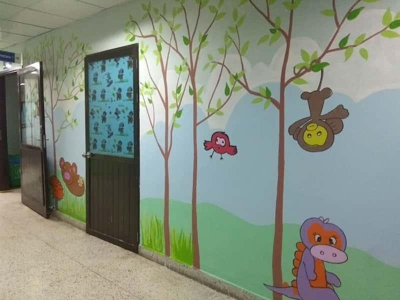 ve trang tuong vien nhi 10 - Các công trình vẽ tranh tường đã thực hiện
