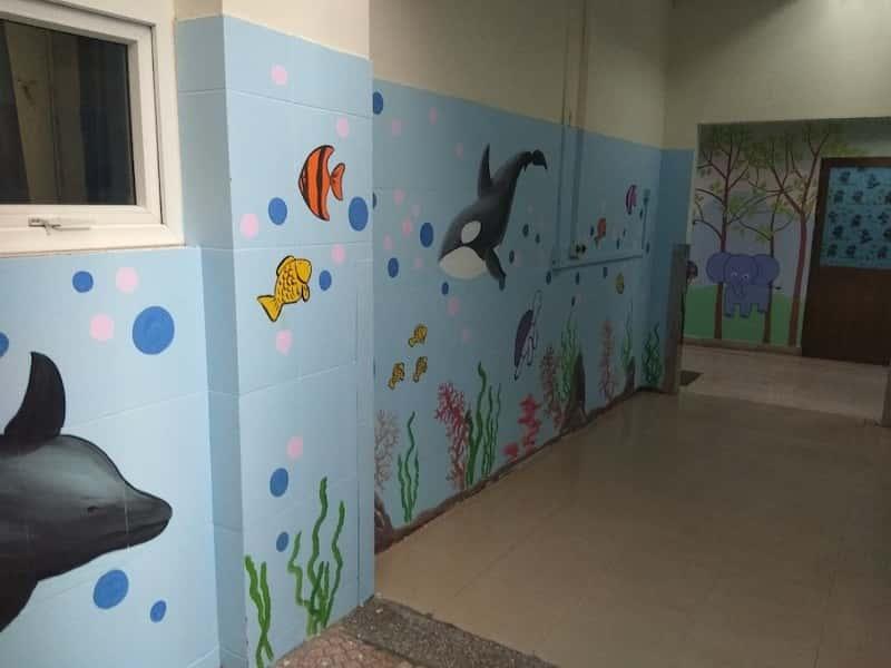 ve trang tuong vien nhi 5 - Các công trình vẽ tranh tường đã thực hiện