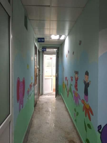 ve trang tuong vien nhi 8 - Các công trình vẽ tranh tường đã thực hiện