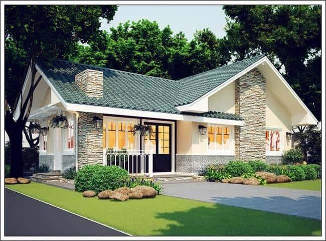 biet thu nha vuon 1 tang mai thai 3 - Biệt thự nhà vườn 1 tầng mái thái